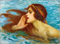 Adesivo murale  A little sea maiden - William Henry Margetson