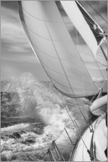 Adesivi murali  Sailing black / white - Jan Schuler
