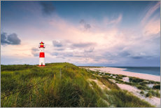 Adesivo murale  Lighthouse in the morning light (Sylt / Elbow / List East) - Dirk Wiemer