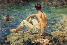 Adesivo murale  Green and Gold - Henry Scott Tuke