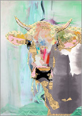 Stampa su plexi-alluminio  Cow Collage - GreenNest
