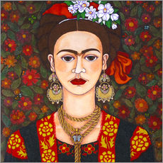 Adesivi murali  Frida with butterflies - Madalena Lobao-Tello