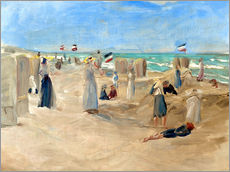 Adesivi murali  On the beach in Noordwijk - Max Liebermann