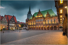 Stampa su plexi-alluminio  Bremen Market Square with City Hall - Rainer Ganske