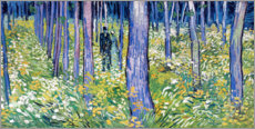 Stampa su plexi-alluminio  Undergrowth with Two Figures - Vincent van Gogh