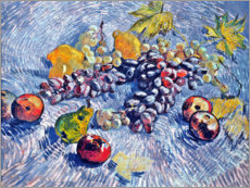Poster Premium  Grapes, Lemons, Pears and Apples - Vincent van Gogh