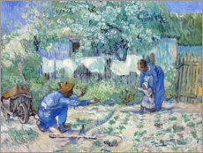 Adesivi murali  First Steps (after Millet) - Vincent van Gogh