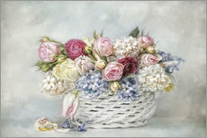 Adesivo murale  a basket full of spring - Lizzy Pe