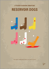 Adesivi murali  No069 My Reservoir Dogs minimal movie poster - chungkong