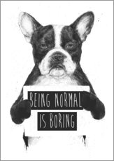Adesivo murale  Being normal is boring - Balazs Solti