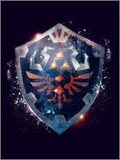 Adesivo murale  Epic Shield of Hyrule - Barrett Biggers