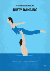 Stampa su plexi-alluminio  No298 My Dirty Dancing minimal movie poster - chungkong