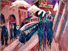 Adesivo murale  Leipziger Strasse with electric train - Ernst Ludwig Kirchner