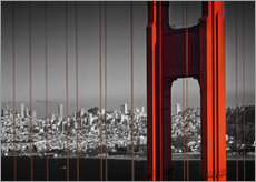 Stampa su plexi-alluminio  Golden Gate Bridge in Detail - Melanie Viola