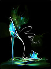 Adesivi murali  Blacklight High Heel