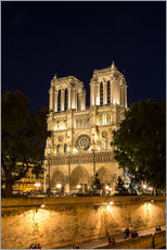 Stampa su plexi-alluminio  Notre Dame de Paris by night