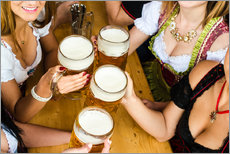 Adesivo murale  Bavarian girls in Dirndl dresses at the Oktoberfest