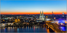 Adesivo murale  Colorful Cologne skyline at night