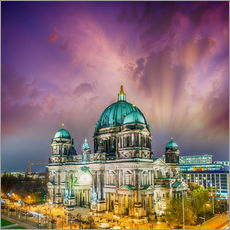 Adesivo murale  Berliner Dom - German Cathedral at sunset