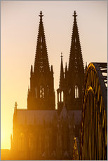 Adesivi murali  Sunset behind the Cologne Cathedral
