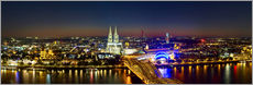 Adesivi murali  A panoramic view of cologne at night