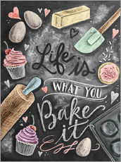 Adesivi murali  Life is what you bake it - Lily & Val