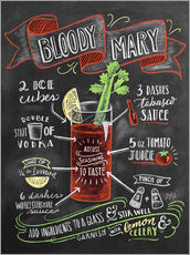 Adesivo murale  Ricetta Bloody Mary (in inglese) - Lily & Val