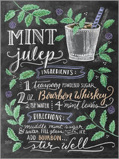 Adesivo murale  Ricetta Mint Julep (in inglese) - Lily & Val