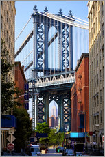 Adesivo murale  Manhattan Bridge and Empire State Building