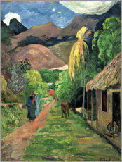 Poster Premium  Road into the mountains - Paul Gauguin