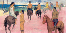 Stampa su schiuma dura  Rider on Beach - Paul Gauguin