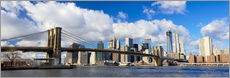 Stampa su plexi-alluminio  Panoramic Brooklyn Bridge and Manhattan skyline