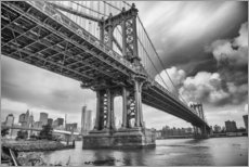 Stampa su plexi-alluminio  The Manhattan Bridge
