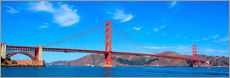 Stampa su plexi-alluminio  panoramic view of Golden Gate Bridge