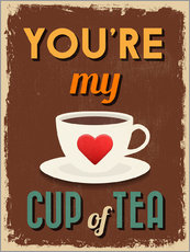 Adesivo murale  You are my lovely cup of tea - Typobox