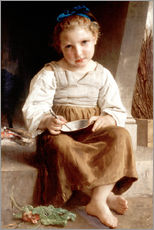Stampa su plexi-alluminio  The slurry, little girl eating his soup - William Adolphe Bouguereau