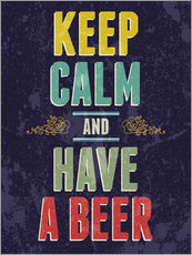 Adesivo murale  Keep calm and have a beer - Typobox