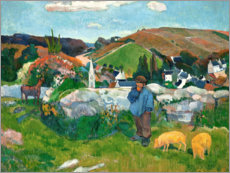 Adesivo murale  The swineherd - Paul Gauguin