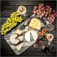 Adesivi murali Wine and cheese still life