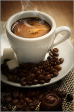 Adesivi murali  Small cup of strong coffee