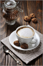 Stampa su plexi-alluminio  Cup of coffee with cookies