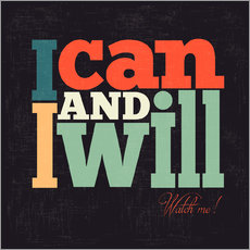 Adesivo murale  I can and i will - Typobox