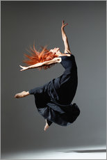 Adesivo murale  Dancer with red hair