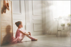 Stampa su plexi-alluminio  Little ballerina - big dreams