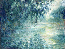 Stampa su plexi-alluminio  Morning on the Seine - Claude Monet