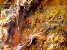Stampa su plexi-alluminio  Hell of the Damned (Detail) - Peter Paul Rubens