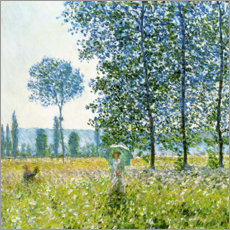 Stampa su legno  Under the Poplar Trees - Claude Monet