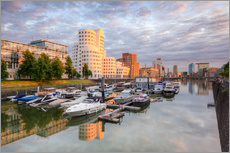 Adesivo murale  Evening sun in the Media Harbour Dusseldorf - Michael Valjak