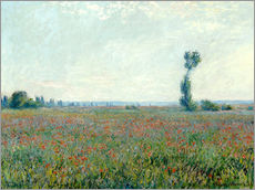 Stampa su plexi-alluminio  Field with poppies - Claude Monet