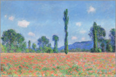 Poster Premium  Poppy field - Claude Monet